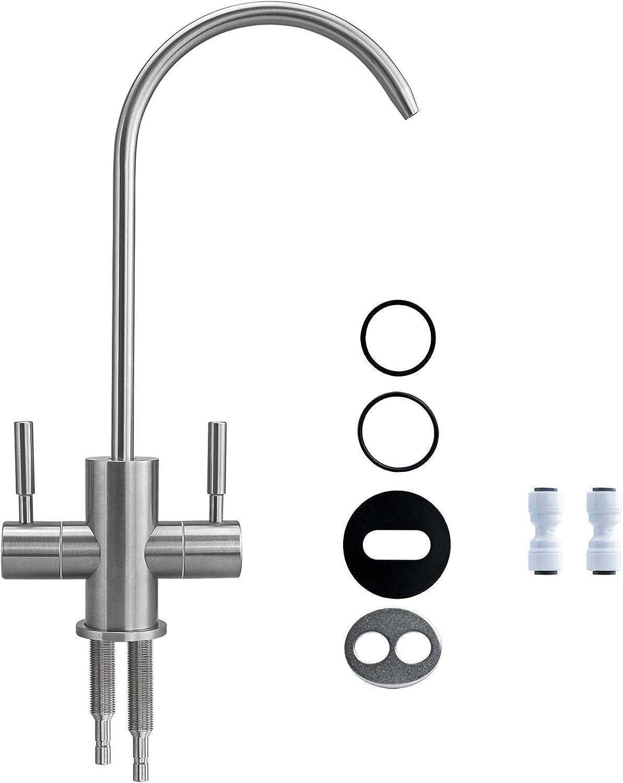 2-Wege-Osmose-Wasserhahn TWISTER Basic Retro Chrom Zweiwege Hahn Wasserfilter