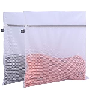 2 Pack Mesh Laundry Bag-2 XXL Oversize Delicates Laundry Bag-Extra Large Laundry Wash Bag with New Honeycomb Mesh-Big Clothes,Bed Sheet,Bedcover,Household,Stuffed Toys,Ligerie Net Bags for Laundry