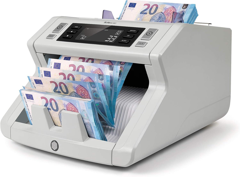 Safescan 2210 - Contadora automática de billetes clasificados. Detección UV y tamaño