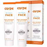 Carpe No-Sweat Face - (Pack of 2) Helps Keep Your Face, Forehead, and Scalp Dry - Sweat Absorbing Gelled Lotion - Plus Oily F
