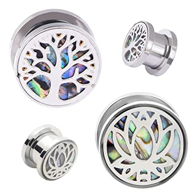 Amazon.com: Acero inoxidable 4pcs Lotus Árbol Tornillo ...