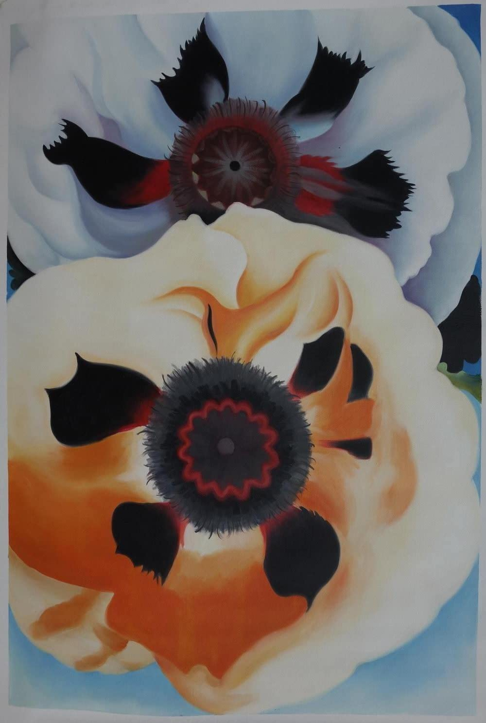 Eastpainting Hand-painted Modern art Flower Oil Painting Poppies By Georgia O keeffe Unframed Reproduction 20×24 Inches