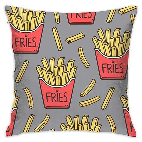 flys French Fries Fast Food - Fundas de cojín para sofá (44 ...