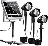 MEIKEE Solar Spot Lights Outdoor, 3 in 1 Solar Landscape Lights