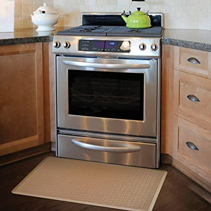 Amazon.com: Apache Mills Basketweave Tan 20 In. X 36 In. Comfort Mat:  Kitchen U0026 Dining