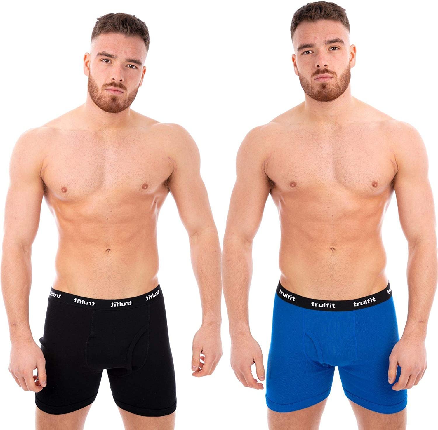 MULTIPACK MENS PLAIN BLACK CHRISTMAS GIFT BOXERs SHORTS UNDERWEAR HIPSTERs PANTS
