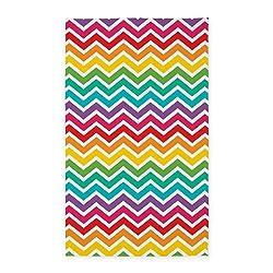 CafePress - Cheerful Rainbow Chevron - Decorative Area Rug, Fabric Throw Rug