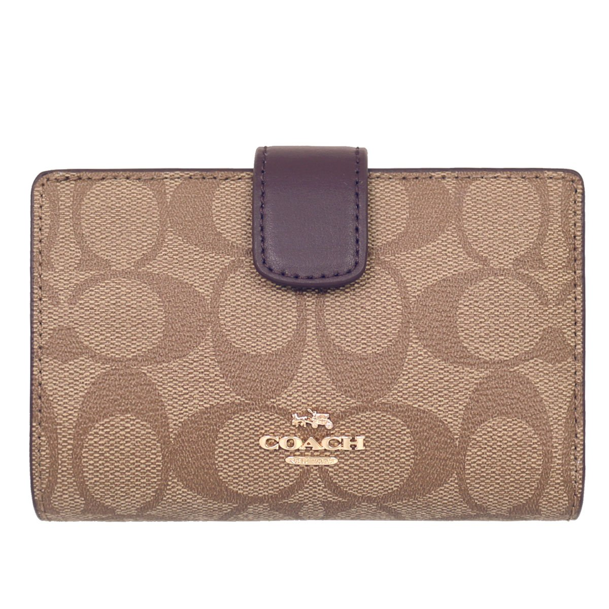 [コーチ] COACH 財布 (二つ折り財布) F54023 シグネチャー 財布 レディース [アウトレット品] [並行輸入品] B076KBJT8D カーキ/オックスブラッド カーキ/オックスブラッド