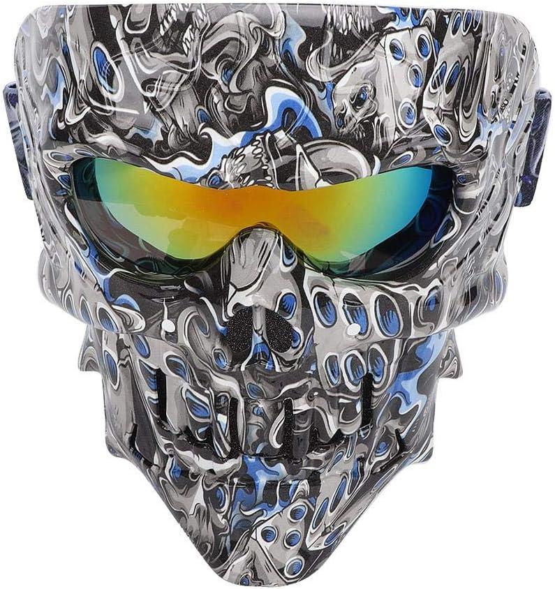 EBTOOLS Gafas de máscara de moto, Gafas de máscara de calavera Gafas de moto de moto Esquí Arena Casco de protección contra el viento Gafas H111