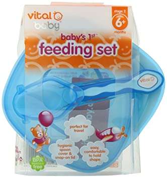 Baby New In Packaging Feeding Vital Baby Two Travel Spoons To Go On Pouches 4 Months Plus