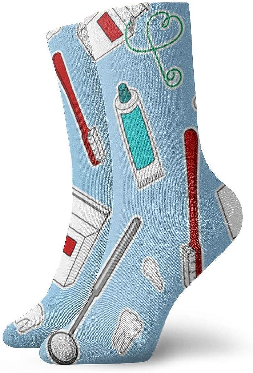 Tammy Jear Dentista lindo calcetines graduados de la tripulación Cálida comodidad Bota duradera Calcetines divertidos de invierno Clima frío para regalo de año nuevo