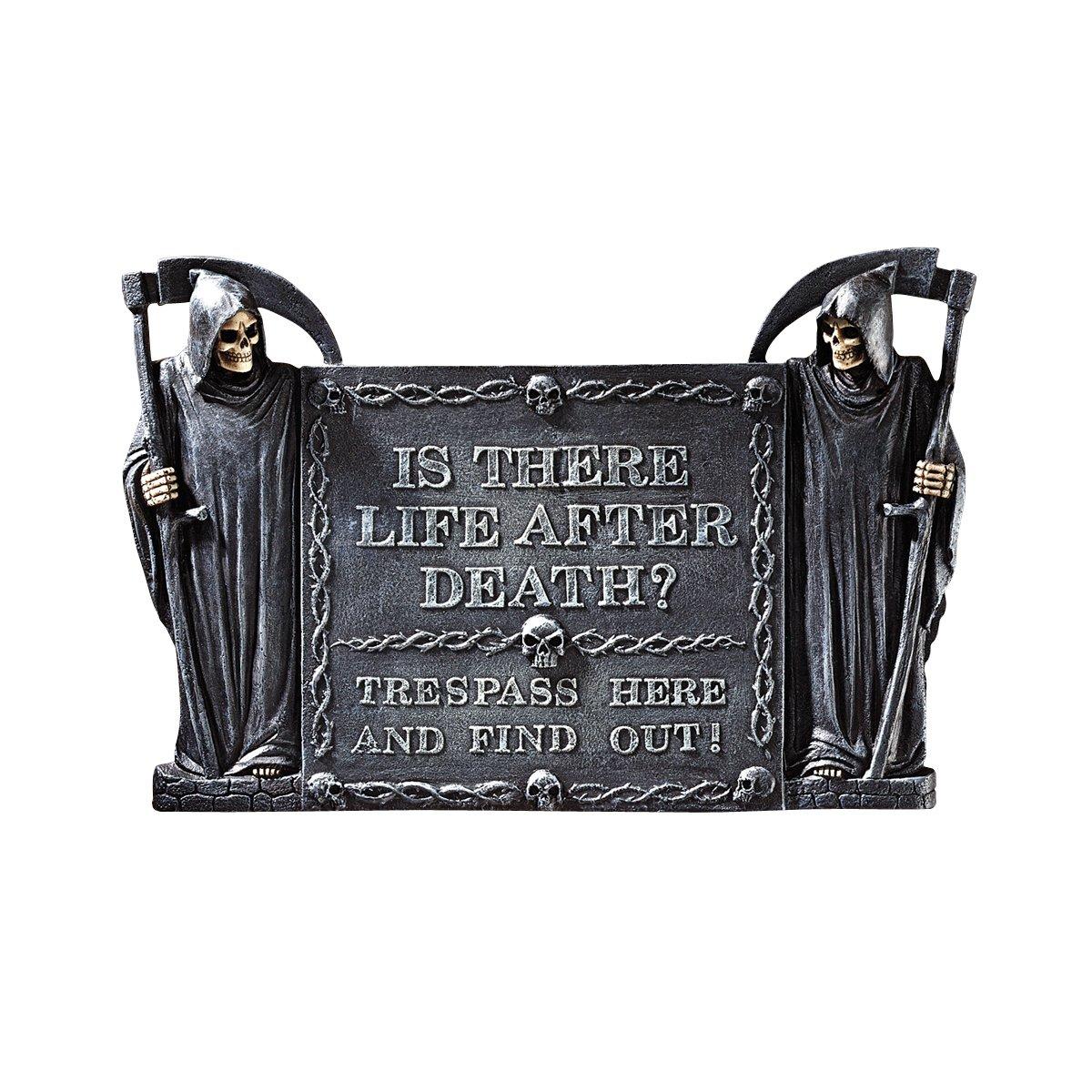 Design Toscano Life After Death: No Trespassing Wall Sculpture CL6290