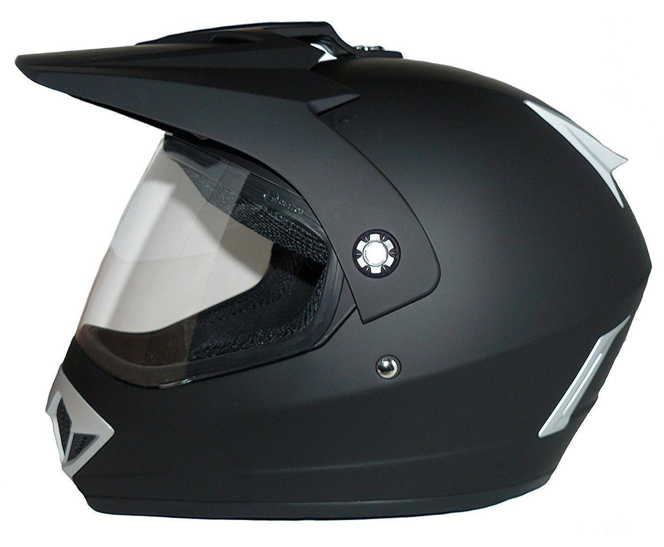 casco Enduro casco nero opaco con visiera Taglia XL Protectwear V370 casco del motociclo Croce