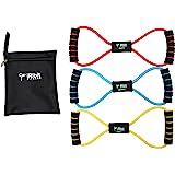 iRibit Fitness Figure 8 Toner Resistance Exercise Tube Band Set of 3