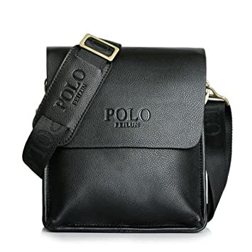 8be7448170 POLO FEILUN Men s Messenger Bag Classic Vintage Genuine Leather Shoulder  Bags Crossbody Bags Briefcase Business Composite