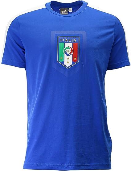 Italy Badge T Shirt White Mens Football