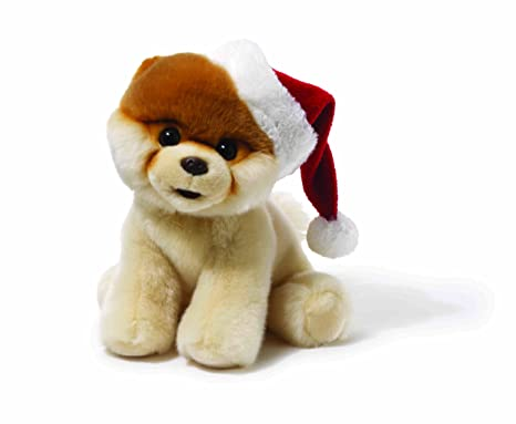 Gund Fun Boo The Worlds Cutest Dog Plush with Santa Hat