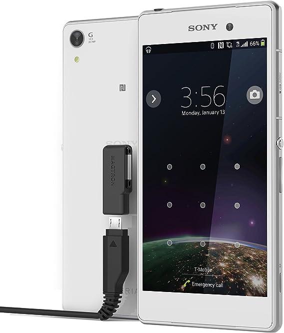 kwmobile Cable USB de Carga con Puerto magn/ético para Sony Xperia Tablet Z2 //Xperia Z1 //Z1 Compact //Z2//Z3 en Negro