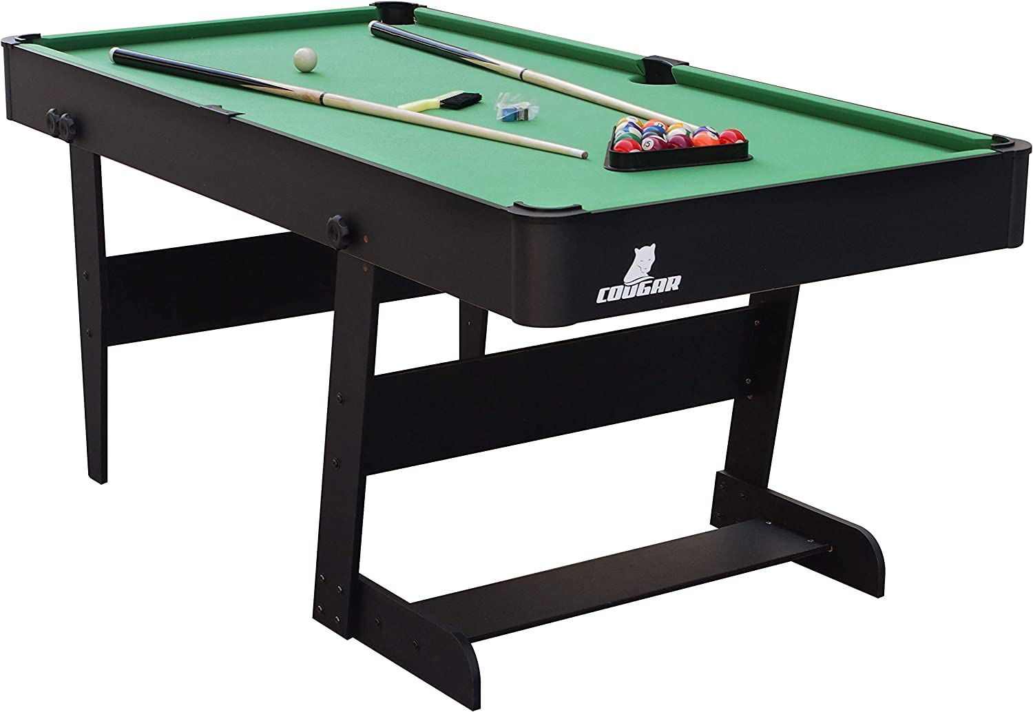 COUGAR A040.201.00 Mesa de Billar Pool Billiards Table - Mesas de Billar (Pool Billiards Table, Negro, Verde, MDF, 5 año(s), Niños y Adultos, China): Amazon.es: Deportes y aire libre