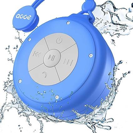 VicTsing Shower Speaker Hands-Free Speakerphone-Blue Buit-in Mic Suction Cup Wireless Waterproof Speaker with 5W Drive