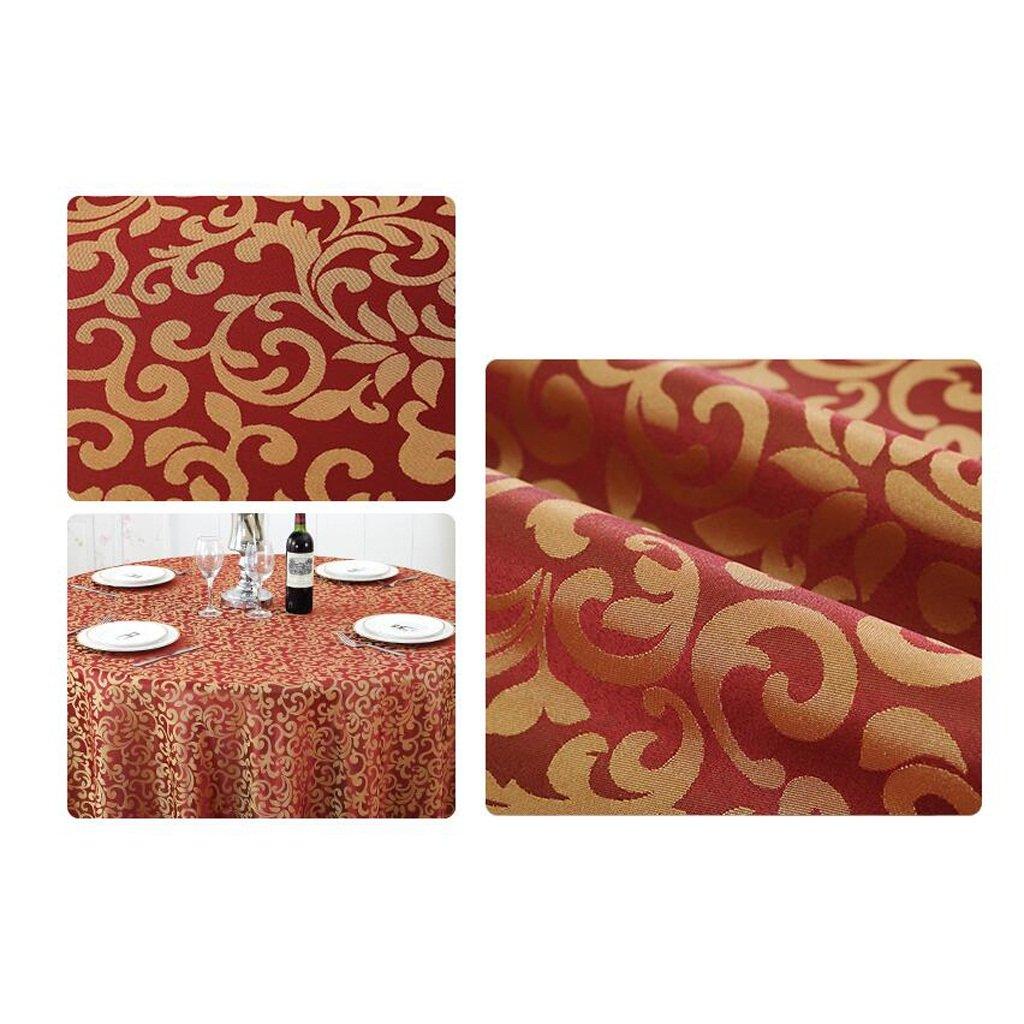 LLH Mantel Europeo Hotel Mantel Restaurante Restaurante Mantel manteles Redondo manteles Simple manteles Estilo Europeo Mesa de café Mantel Redondo Falda Tela mezclada ZHUOB (Color : B, Tamaño : Diameter 320) 2c5e7e