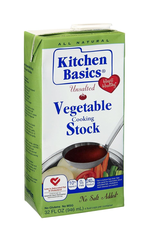 Amazon.com : Kitchen Basics Unsalted Vegetable Stock, 32-Ounce ...