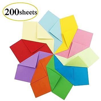 Papier Origami 200 Feuilles Papier Coucleur De Papier Origami