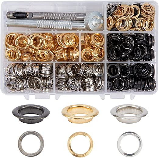 4-10MM Dia Rivet Colored Eyelets With Washers Crafts Leather Crafts Repair