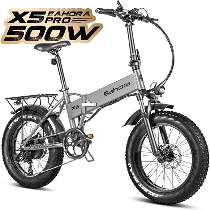 Eahora X5 Pro Fat Tires 20 Inch 500W Folding Electric Bike