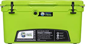 Frosted Frog Original Green 75 Quart Ice Chest Heavy Duty High Performance Roto-Molded Commercial Grade Insulated Cooler