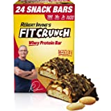 FITCRUNCH High Protein Bars, Value Pack, Snack Size Protein Bars, Gluten Free, Chocolate Peanut Butter, 24 ct.