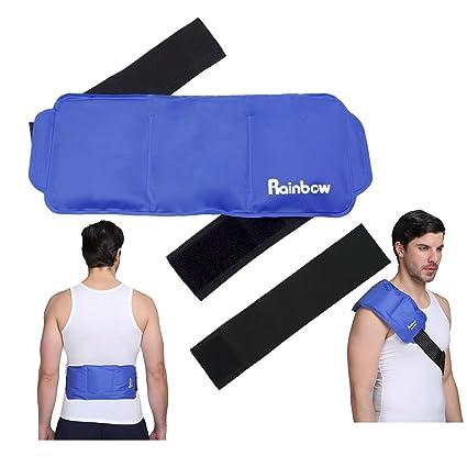 Bolsa de plástico fría - alivia el riesgo de lesiones deportivas, dolor, dolor en las articulaciones, contusiones y esguinces - Para la rodillas, ...