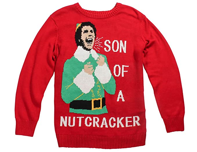 Ripple Junction Elf Son Of A Nutcracker Adult Knit Sweater Large Red