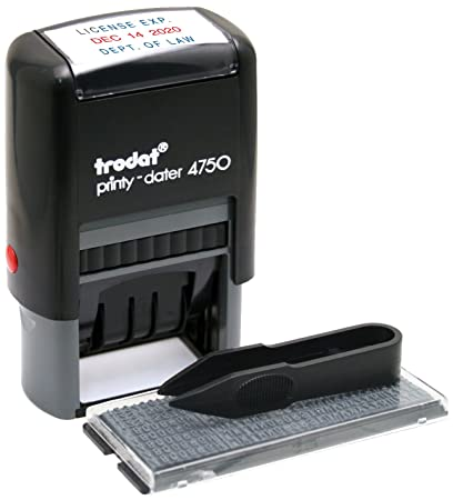 Trodat Economy Self Inking Do It Yourself Message Date Stamp Impression Size