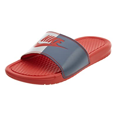 7044a91a0b05 Nike 343881-612  Benassi Womens Habanero Red Habanero Red-light Carbon  Sandal