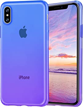 Salawat Cute Gadient Color Design Slim Lightweight iPhone Xs Case