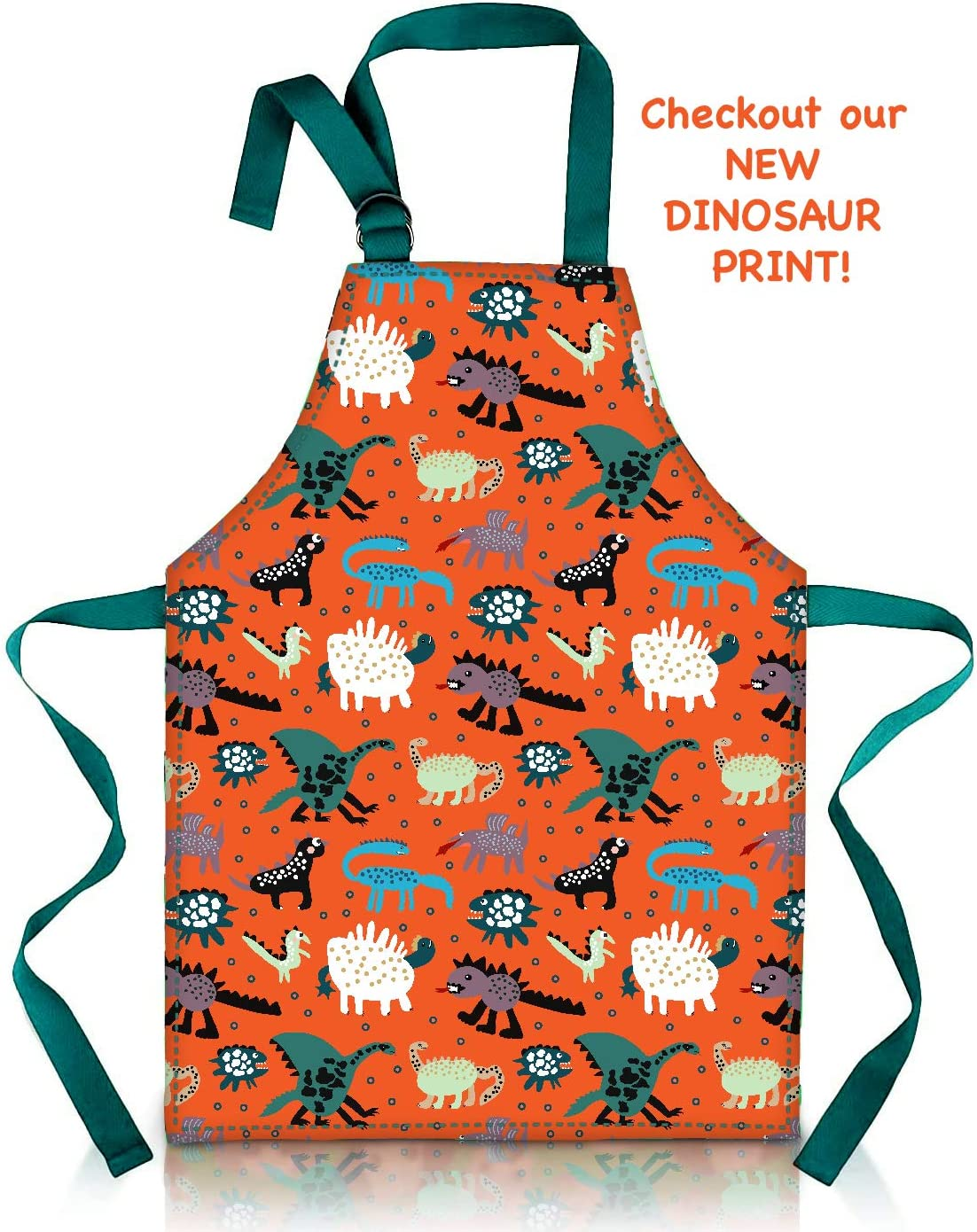 Waterproof PVC Pinny Printed in Unique Fun Dog Print for Little Cooks and Artists Age 2-4 small, blue Cute Apron for Toddler