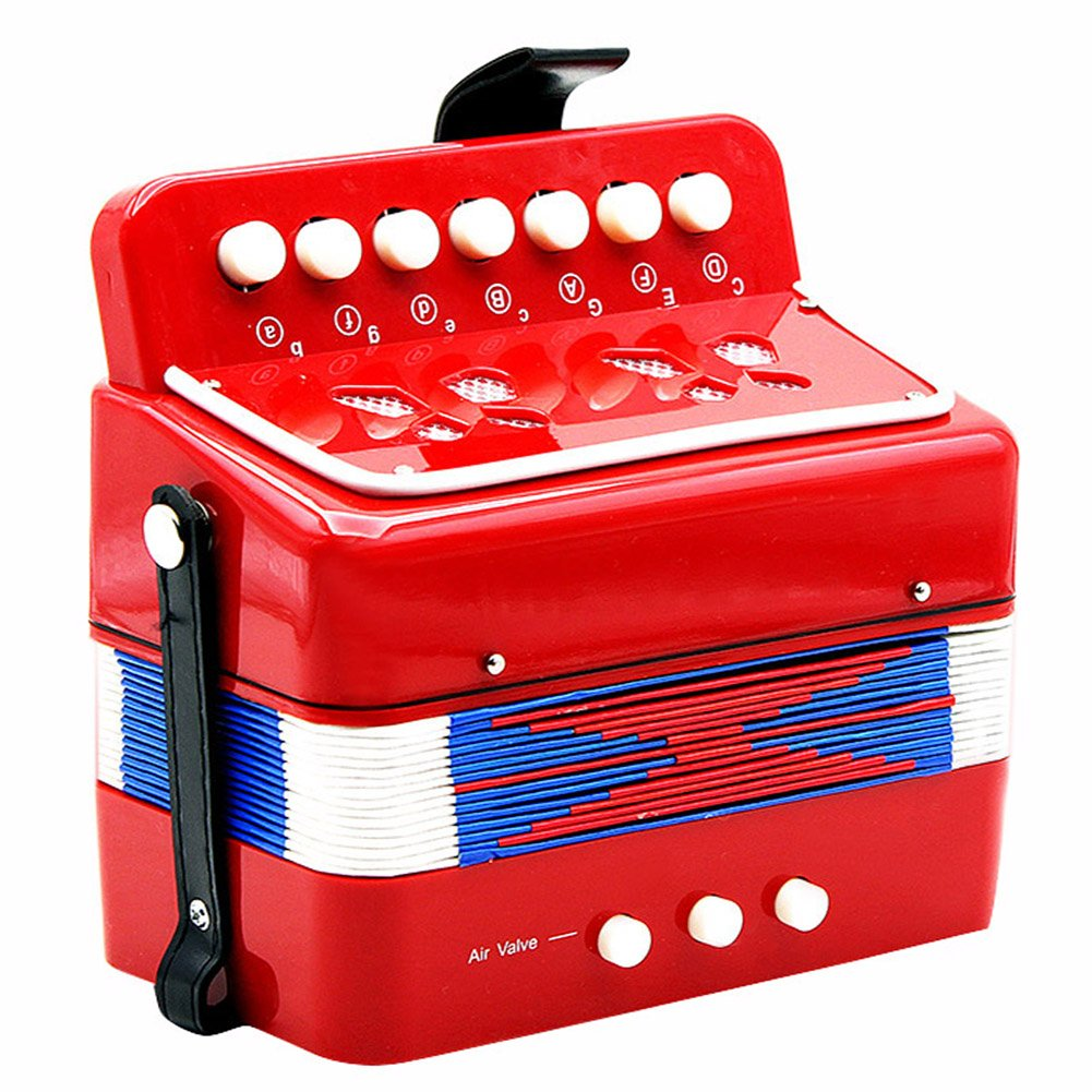 Dilwe Accord/éon 7 Touches 2 Basses Mini accord/éon Jouet /éducatif Instrument Musical pour Enfant d/ébutant