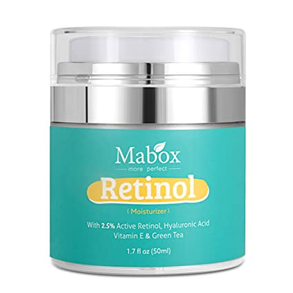 Mabox Retinol humectante Crema para cara y ojos área – con Retinol, ácido hialurónico,