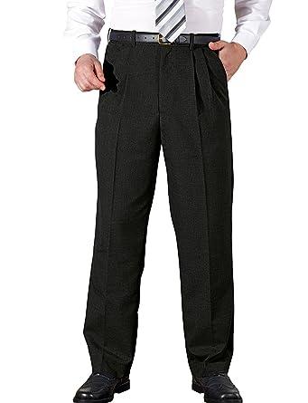 Chums Mens High Waisted With Hidden Waistband Pleated Trouser Pants