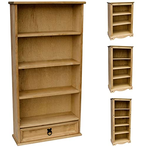Home Discount Corona 1 Drawer Bookcase DVD/CD Rack