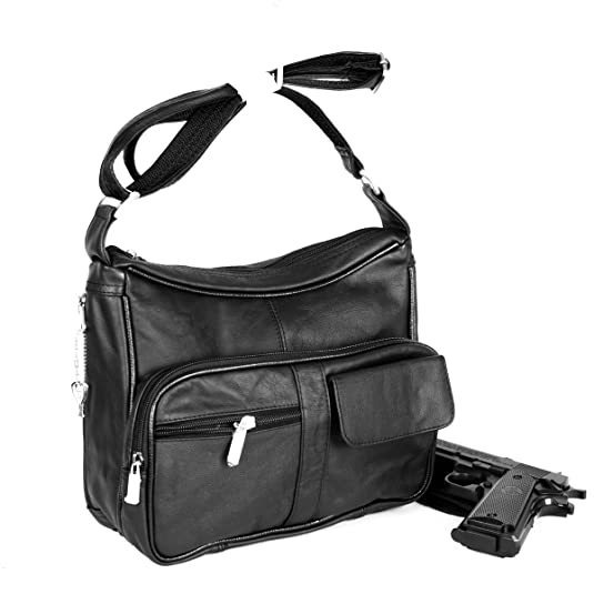 Goson Concealed Carry Purse - NEW Premium Leather Locking CCW Gun Bag