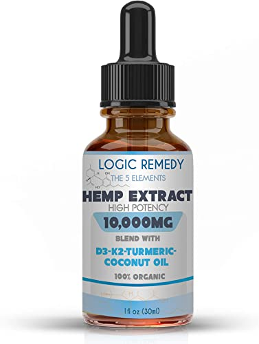 LOGIC REMEDY, The 5 Elements, 10,000 mg, Daily dose of Vitamin D3 K2, Coconut Oil, Turmeric