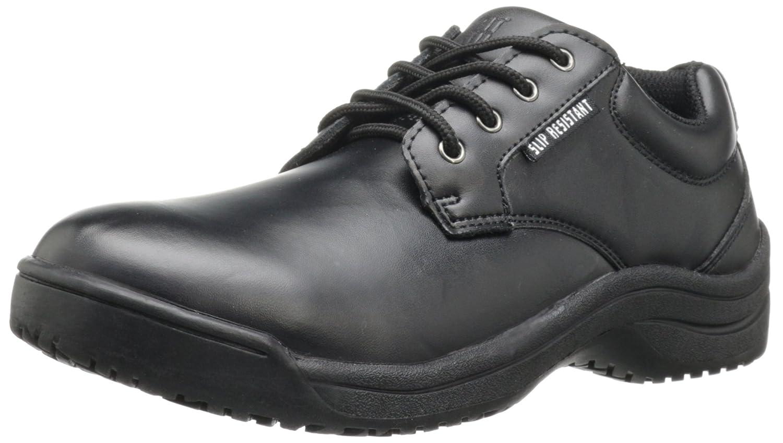 Skidbuster 5076 Women's Leather Slip Resistant Oxford B002YUER2Q 9 W US|Black