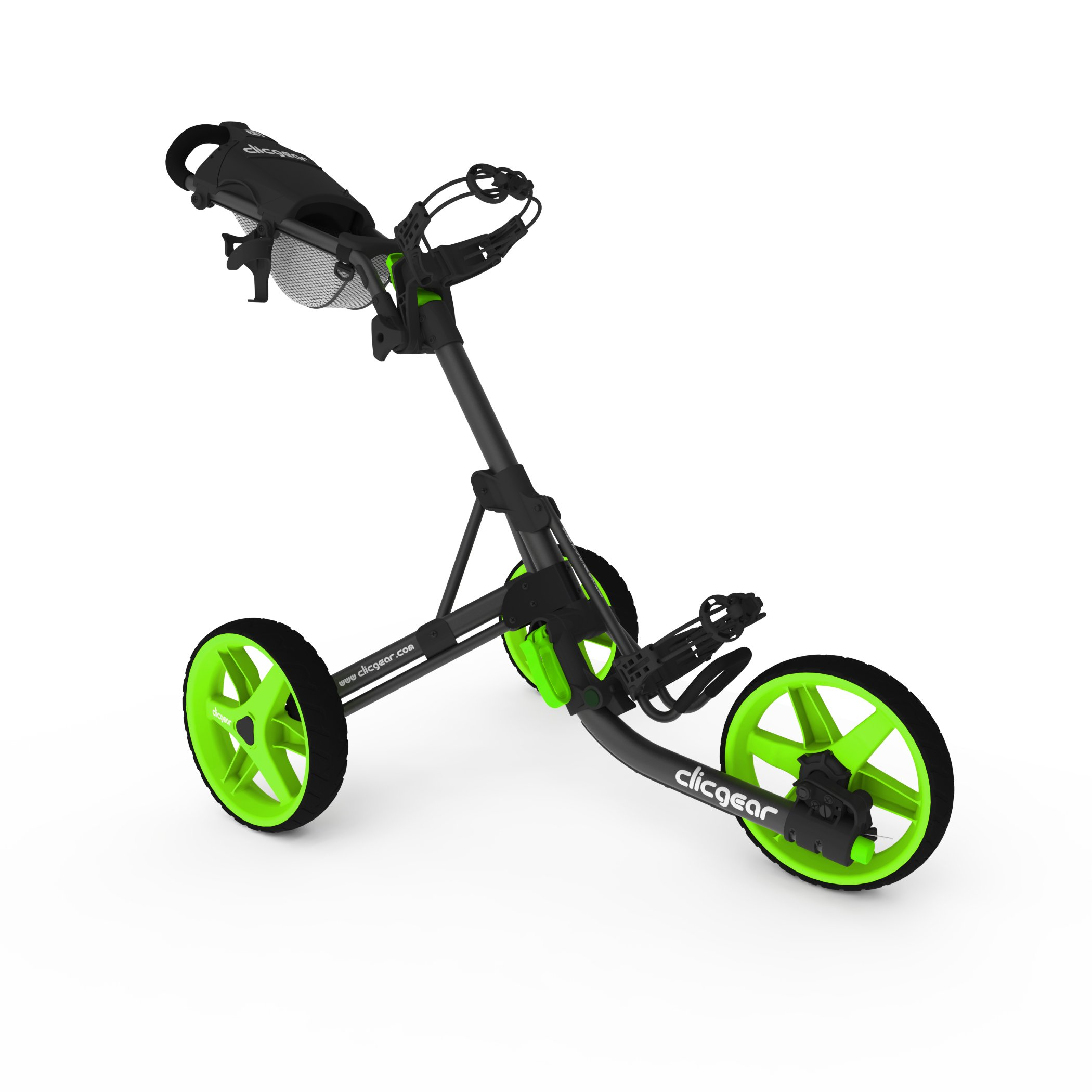 Clicgear Model 3.5+ | 3-Wheel Golf Push Cart (Charcoal/Lime) by Clicgear