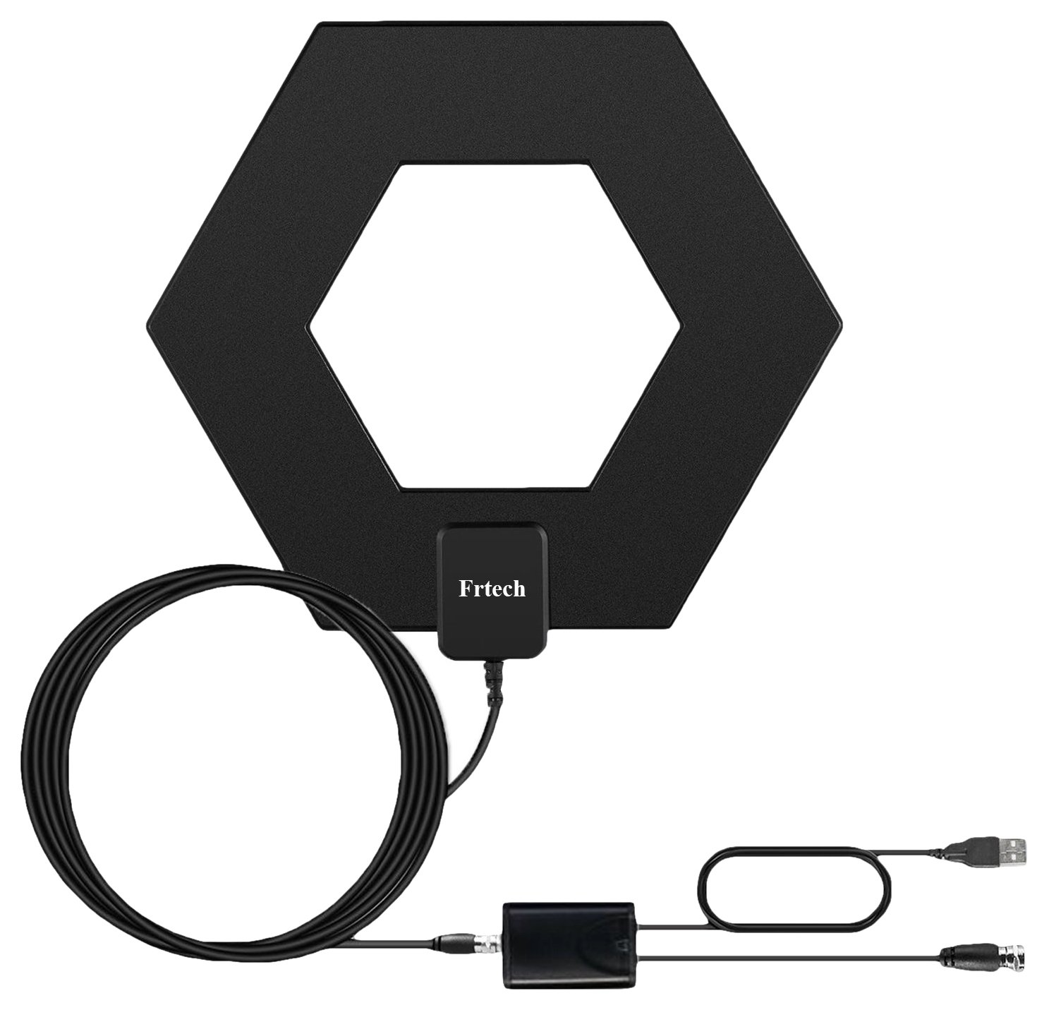 Frtech Hd TV Antenna 50+ Mile Range With Detachable Amplifier Signal Booster