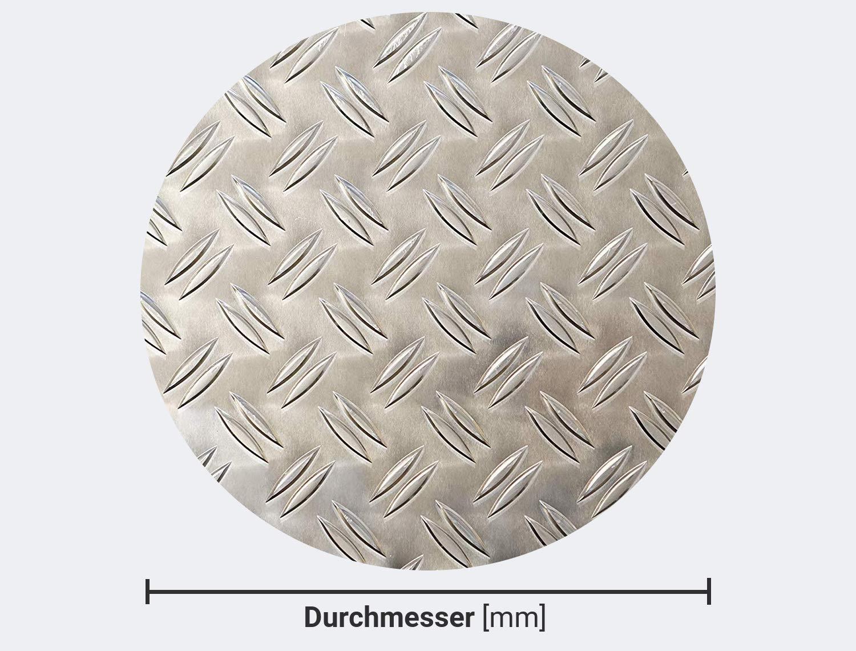 200 mm bestell-dein-Blech Metall Aluminium Riffelblech duett 2,5//4,0 mm stark Tr/änenblech//Warzenblech Kreis-Zuschnitt aus Alu Blech geriffelt walzblank natur Runder Zuschnitt nach Ma/ß /…