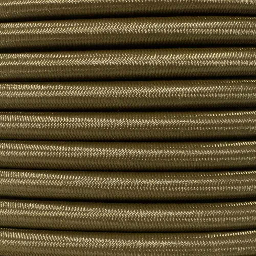 """1//16 1//2 inch PARACORD PLANET Crafting Stretch String 10 25 50 /& 100 Foot Lengths Made in USA 3//8 3//16 1//4 5//8 5//16 1//8/"""" Elastic Bungee Nylon Shock Cord 2.5mm 1//32"""