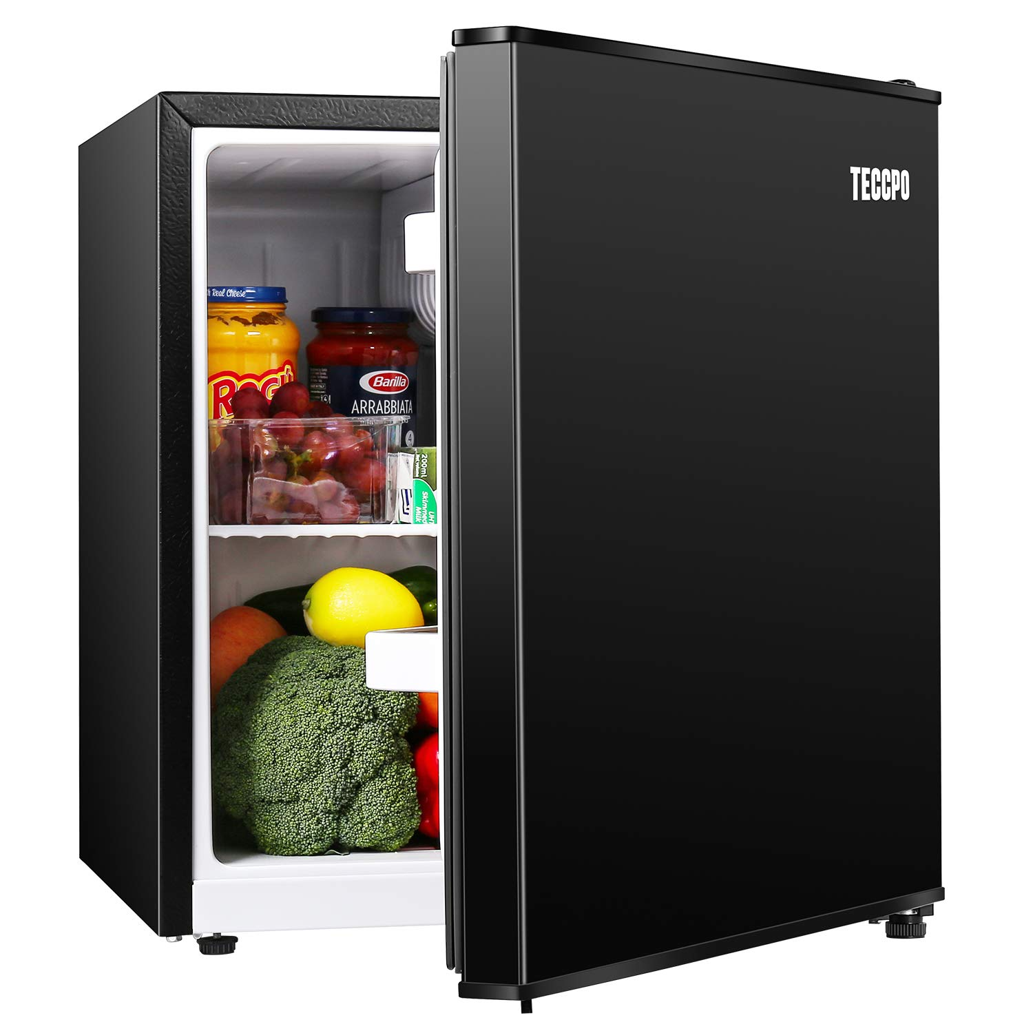 Mini Fridge, TECCPO 1.7 Cu.Ft. Small Refrigerator, Energy Star, 6 Adjustable Thermostat Control, One-touch Easy Defrost, 37 dB, Compact Refrigerator for Bedroom, Dorm, Office - TAMF30