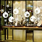 Oyedens Merry Christmas Snowflake Wall Sticker Door Window Decal Home Decoration